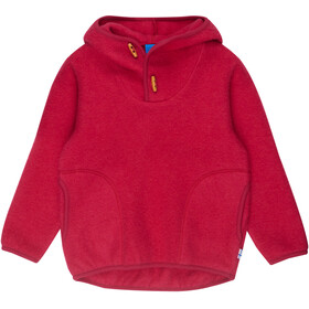Finkid Jussi Wool Hoodie Jenter persian red